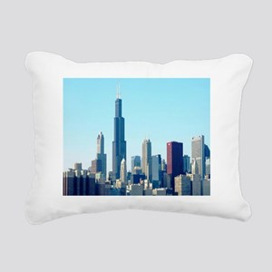 Chicago Cityscape Rectangular Canvas Pillow