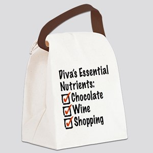 Diva's Essential Nutrients Canvas Lunch Bag