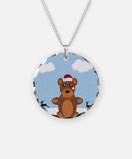 Christmas Brown Bear Necklace