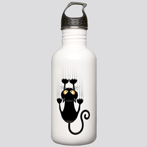 Black Cat Cartoon Scra Stainless Water Bottle 1.0L