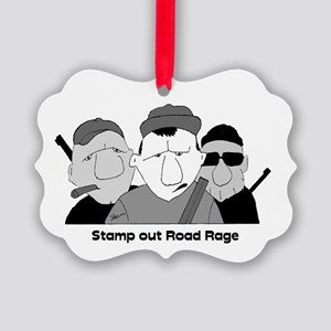 Stamp out Road Rage Picture Ornament