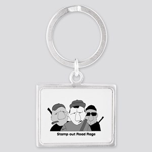 Stamp out Road Rage Landscape Keychain