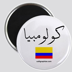 Colombia Flag Arabic Magnet