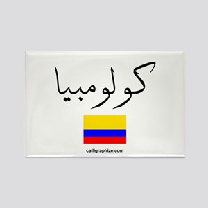 Colombia Flag Arabic Rectangle Magnet