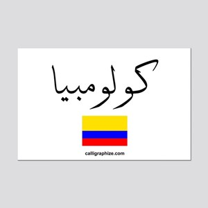 Colombia Flag Arabic Mini Poster Print