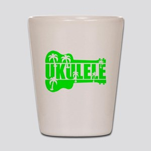 hawaiian ukulele uke palm tree design Shot Glass
