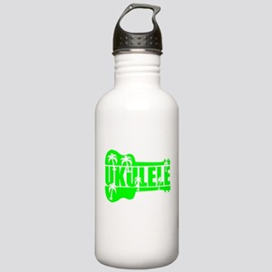hawaiian ukulele uke palm tree design Water Bottle