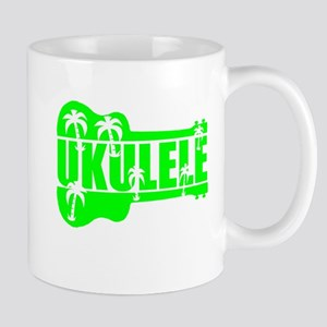hawaiian ukulele uke palm tree design Mugs