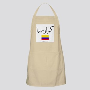 Colombia Flag Arabic BBQ Apron