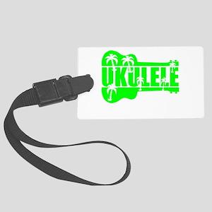hawaiian ukulele uke palm tree design Luggage Tag