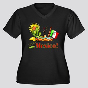 Scott Designs Women's Plus Size V-Neck Dark T-Shir