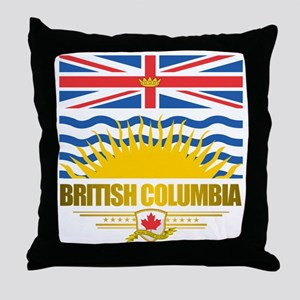 British Columbia Flag Throw Pillow
