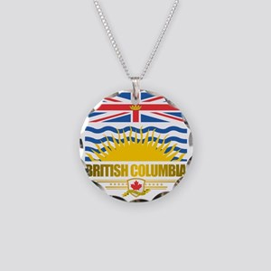 British Columbia Flag Necklace Circle Charm