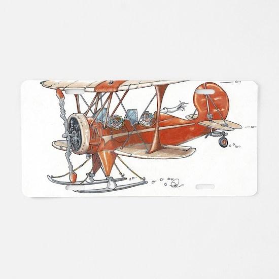 Waco Skiplane Aluminum License Plate
