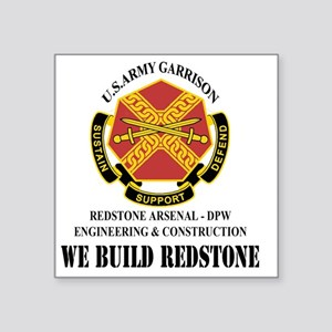 "DPW Engineering  Constructi Square Sticker 3"" x 3"""