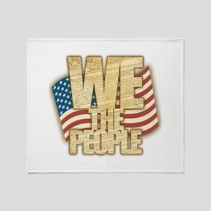 We The People Throw Blanket