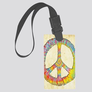 tiedye-peace-713-LG Large Luggage Tag