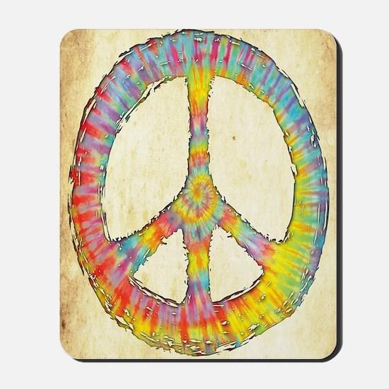 tiedye-peace-713-LG Mousepad