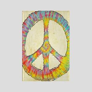 tiedye-peace-713-LG Rectangle Magnet