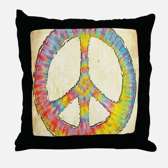 tiedye-peace-713-LG Throw Pillow
