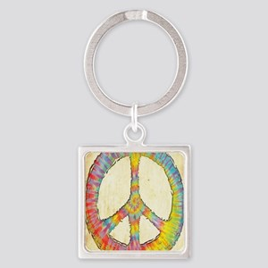 tiedye-peace-713-LG Square Keychain
