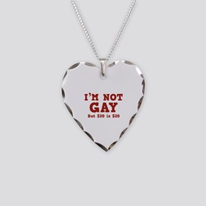 I'm Not Gay Necklace Heart Charm