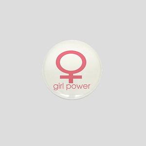 Girl Power Light Pink Mini Button