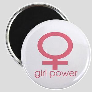 Girl Power Light Pink Magnet