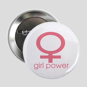 Girl Power Light Pink Button