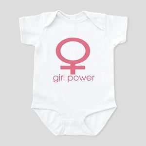 Girl Power Light Pink Infant Bodysuit