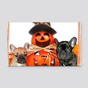 Halloween French Bulldogs Rectangle Car Magnet