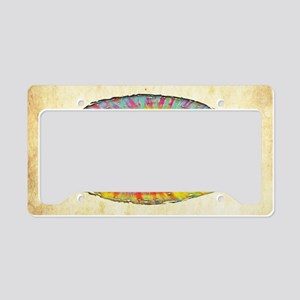 tiedye-peace-713-OV License Plate Holder