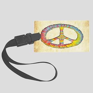 tiedye-peace-713-OV Large Luggage Tag