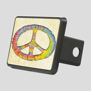 tiedye-peace-713-OV Rectangular Hitch Cover