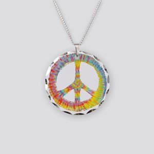 tiedye-peace-713-DKT Necklace Circle Charm