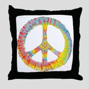 tiedye-peace-713-DKT Throw Pillow