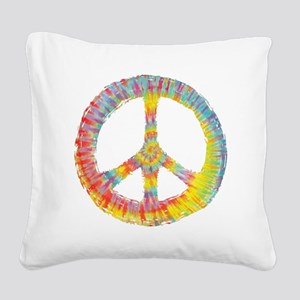 tiedye-peace-713-DKT Square Canvas Pillow