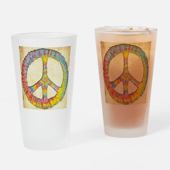 tiedye-peace-713-PLLO Drinking Glass