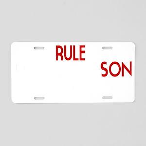 SonDatingRule Aluminum License Plate
