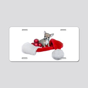 Christmas Chihuahua Dog Aluminum License Plate