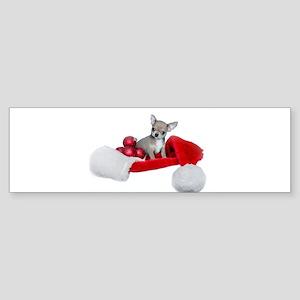 Christmas Chihuahua Dog Bumper Sticker