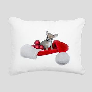 Christmas Chihuahua Dog Rectangular Canvas Pillow