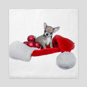 Christmas Chihuahua Dog Queen Duvet