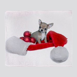 Christmas Chihuahua Dog Throw Blanket