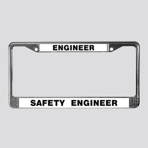 Safety Engineer License Plate Frame