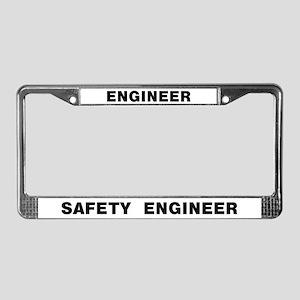 Safety Engineer License Plate Frame