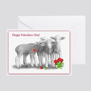 Valentines Day Lambs Greeting Cards