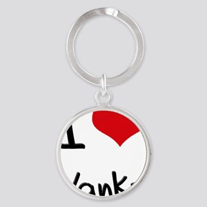 I love Yanks Round Keychain