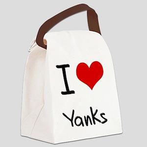 I love Yanks Canvas Lunch Bag
