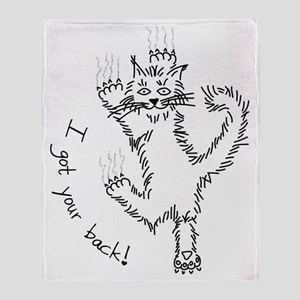 kitty_back_dark Throw Blanket